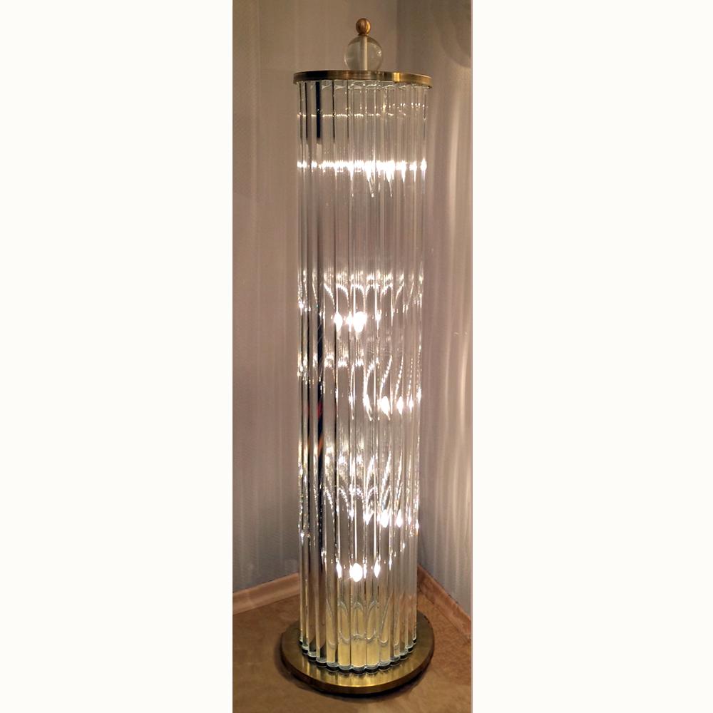 Stephan keller products lighting floor lamps column floor lamp murano glass mozeypictures Images